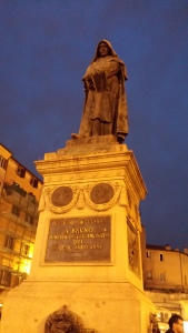 Giordano Bruno is not amused by your antics.