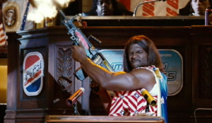 President Camacho addresses a joint session of Congress - from the movie Idiocracy